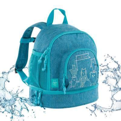 --Lassig, 1203001424 - Mini Backpack About Friends mélange blue, Bags--