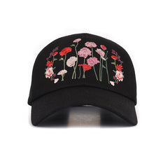 Flower embroidery detail CAP