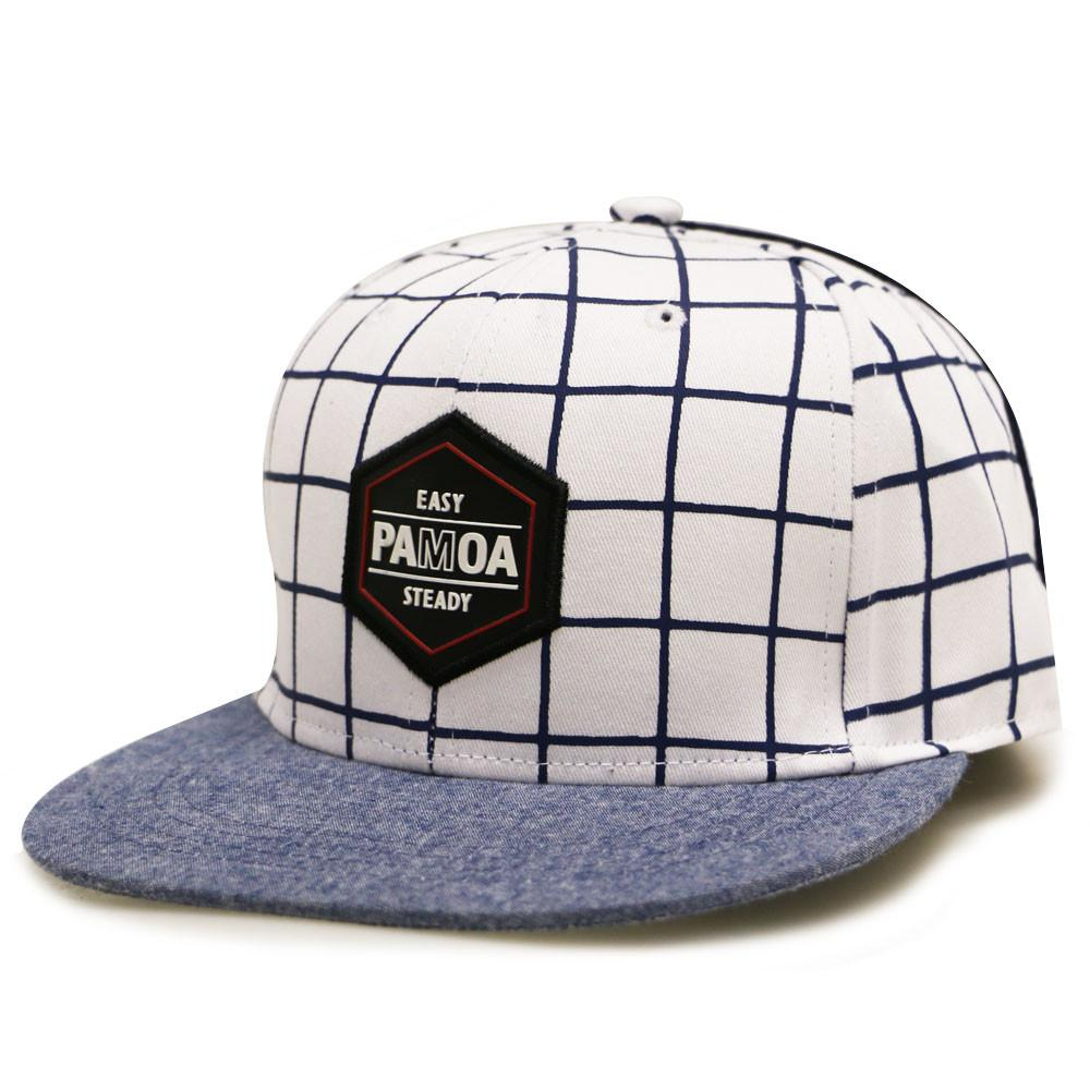--Pamoa, Pamoa Pmcf580 Grid Pattern Snapback, Accessories--