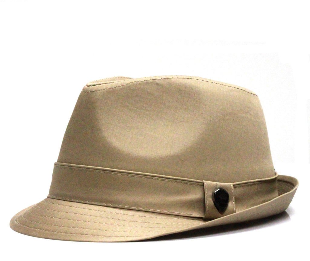Pamoa Pmt110 Cotton Solid Trilby Fedora Hats