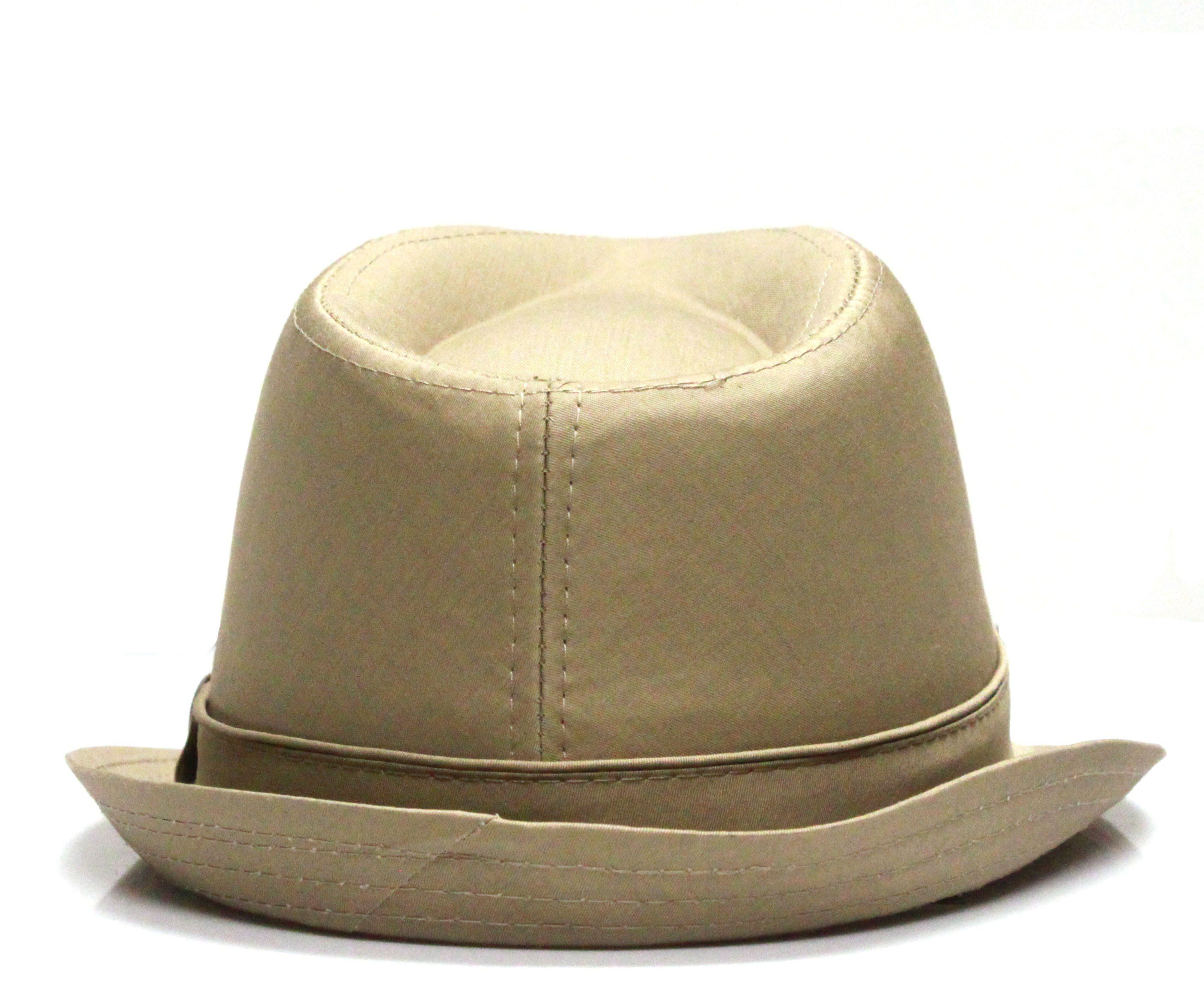 Pamoa, Pamoa Pmt110 Cotton Solid Trilby Fedora Hats, Accessories, Hot Sale Product - Leez Department Store