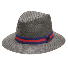 Pamoa Pms480 Wide Brim Straw Fedora Hat with Band