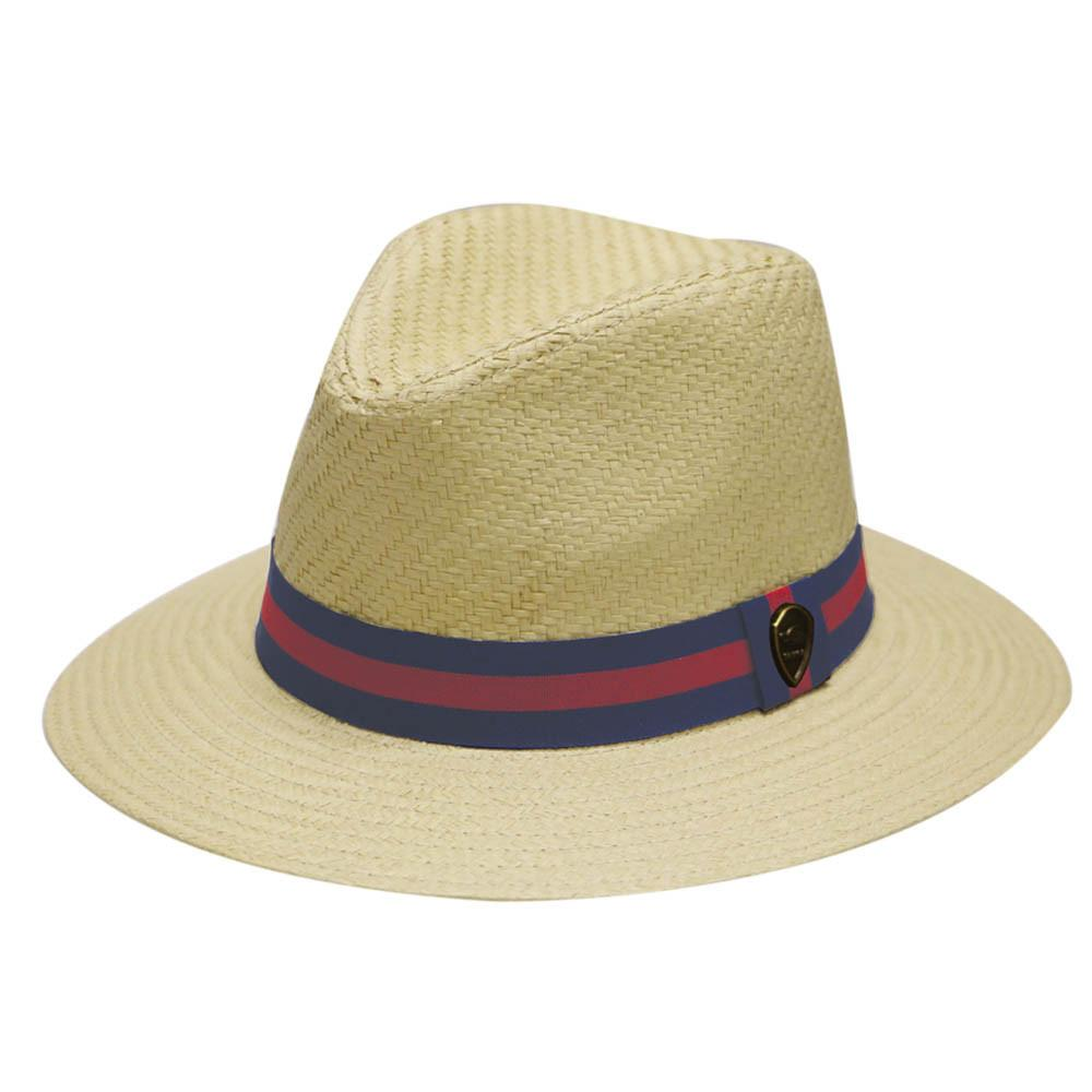 Pamoa, Pamoa Pms480 Wide Brim Straw Fedora Hat with Band, Accessories