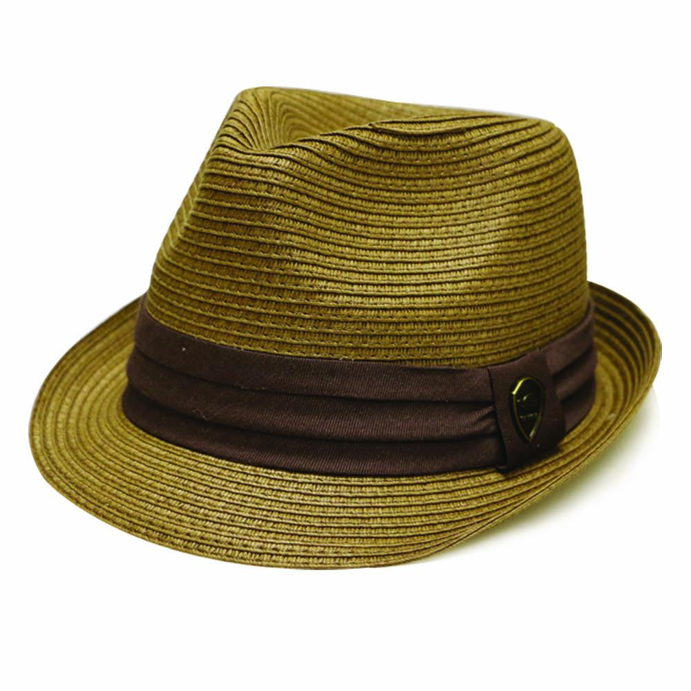 Pamoa Pms490 Solid Paper Braided Trilby Straw Fedora
