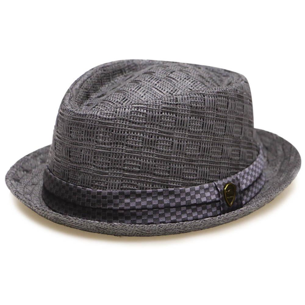--Pamoa, Pamoa Pms540 Summer Porkpie Straw Fedora, Accessories--