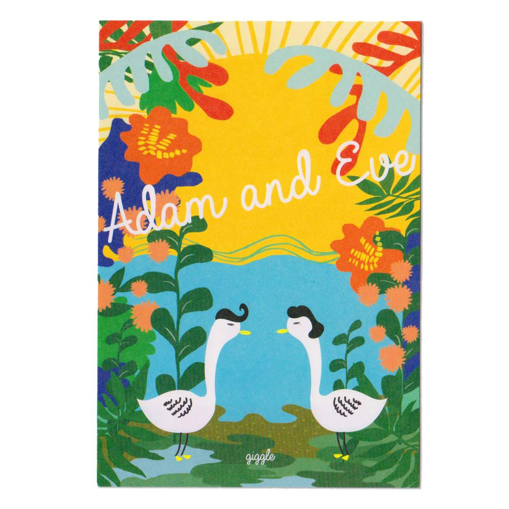 Giggle Mode, adam & eve postcard, Accessories, Hot Sale Product - Leez Department Store