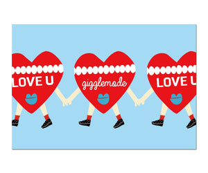 Giggle Mode, heart postcard, Accessories