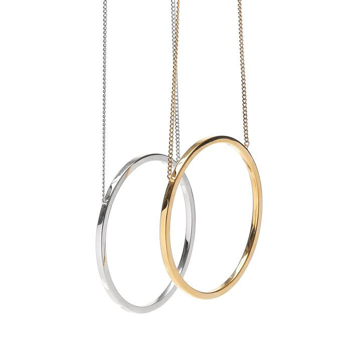 24/7 silver hoop necklace