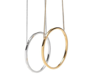 MZUU, 24/7 silver hoop necklace, Accessories