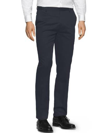 Calvin Klein Men's Slim Fit Refined Twill Pant Office Navy