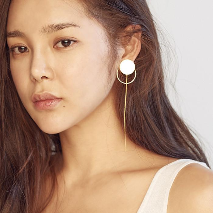 MZUU, 24/7 Circle and Hoop Drop Single Earring, Accessories, Hot Sale Product - Leez Department Store