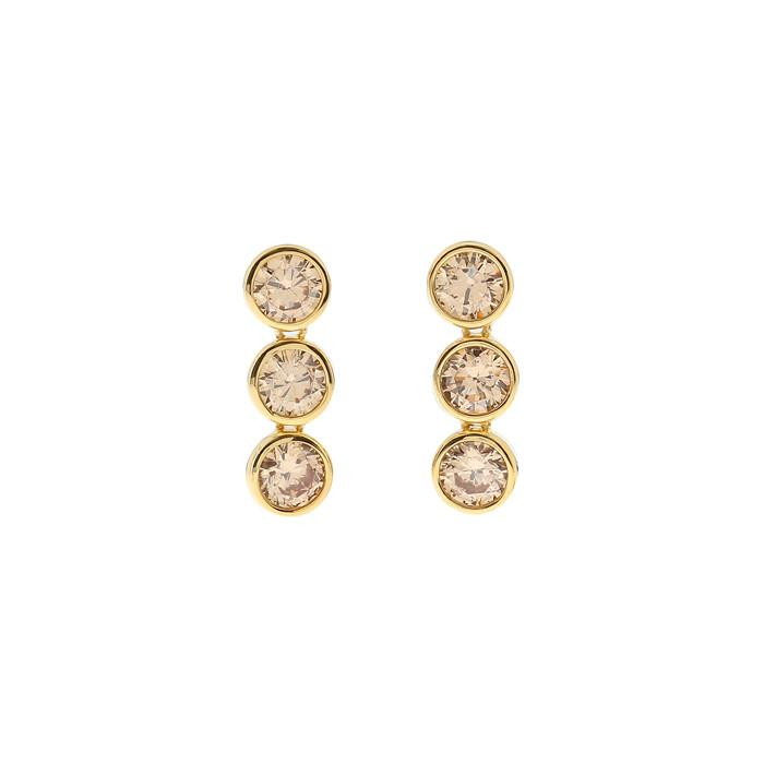 MZUU, 24/7 3 Layers Crystal Earrings, Accessories, Hot Sale Product - Leez Department Store
