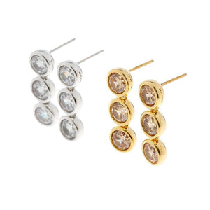 MZUU, 24/7 3 Layers Crystal Earrings, Accessories