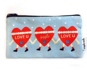 Giggle Mode, heart pencil pouch, Accessories