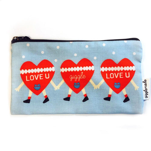 heart pencil pouch