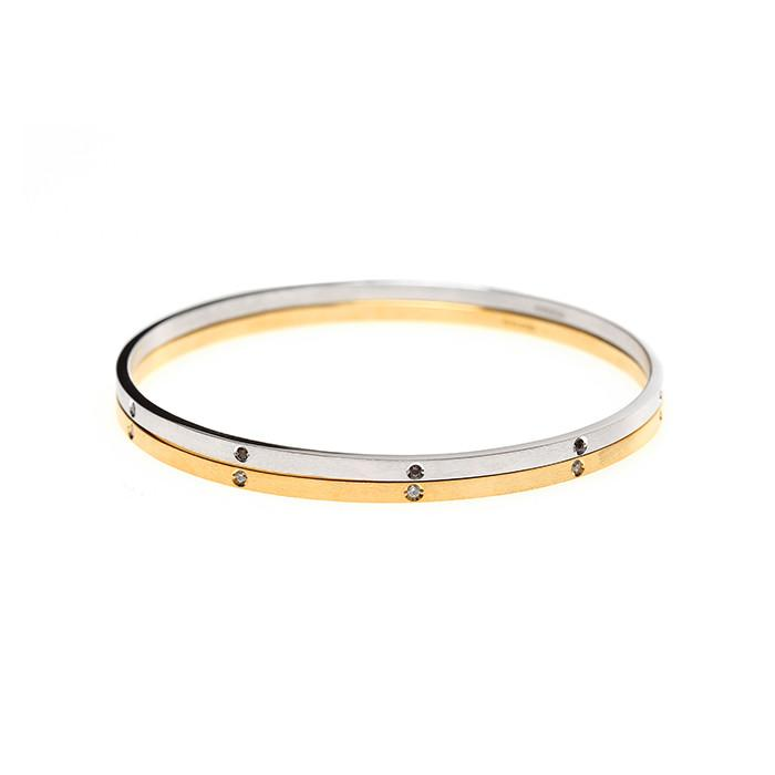 24/7 double texture crystal bangle