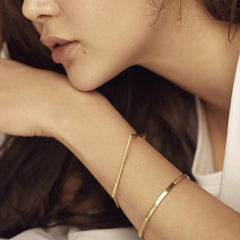 24/7 double texture pentagon bangle