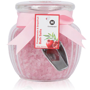 Organic Relaxation Bath Salts by Eve Hansen in Pomegranate and Grapefruit Scent.