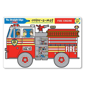 Melissa & Doug, Melissa & Doug - Fire Engine Color-A-Mat, Toys