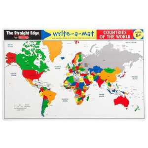 Melissa & Doug, Melissa & Doug - Countries of the World Write-a-Mat, Toys