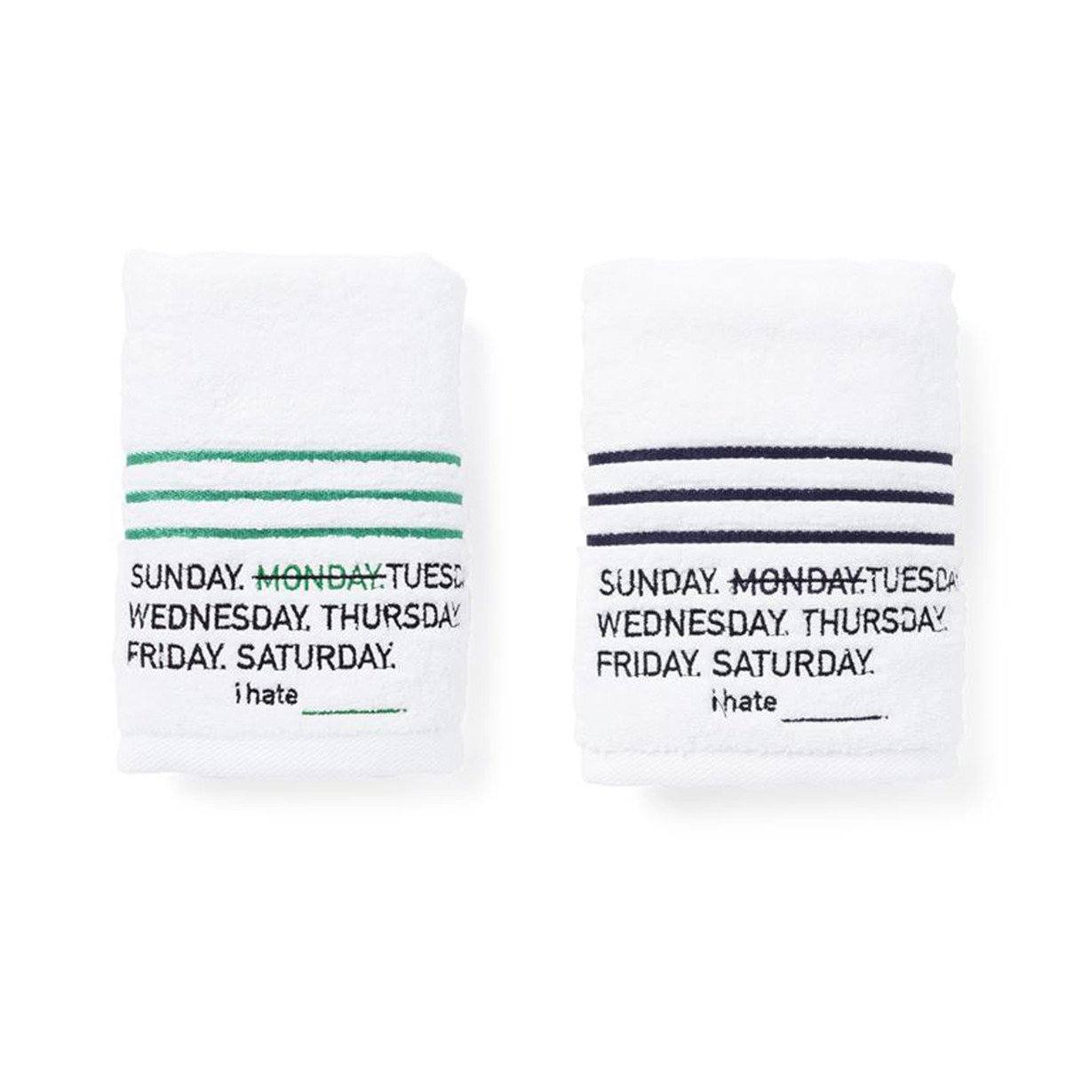 --I hate Monday, Stripe Towel SET, Accessories--