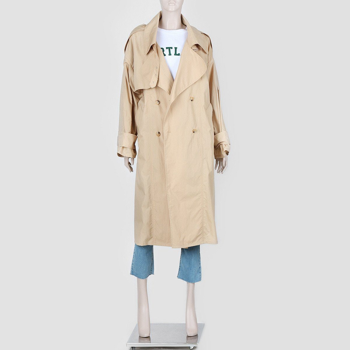 Siero Wear, Over-fit long trench coat, women clothes, Hot Sale Product - Leez Department Store