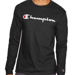 CHAMPION MEN'S LOGO LONG-SLEEVE TEE