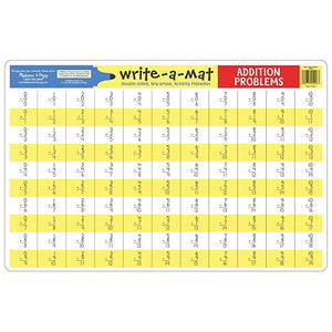 Melissa & Doug, Melissa & Doug - Addition Problems Write-A-Mat, Toys