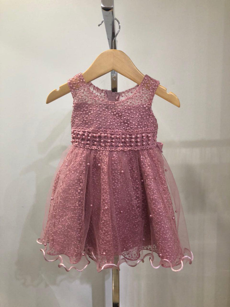 --Kids Pink Baby Doll Dress--