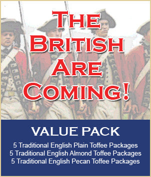 THE BRITISH ARE COMING Toffee Value Pack