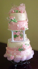 Spring Flowers Wedding Cake