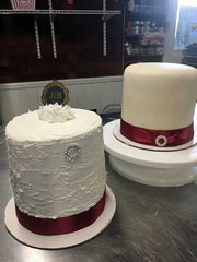 Top hat topper cakes