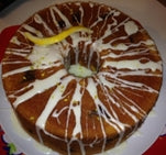 Lemon with lemon zest glaze | 9inch Round | Bundt Cake - serves 10-14