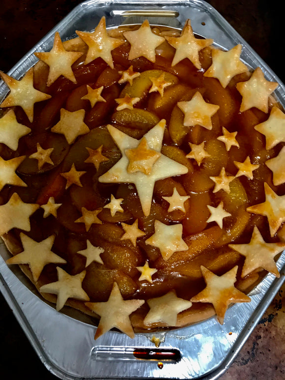 4th of July Peach Pie