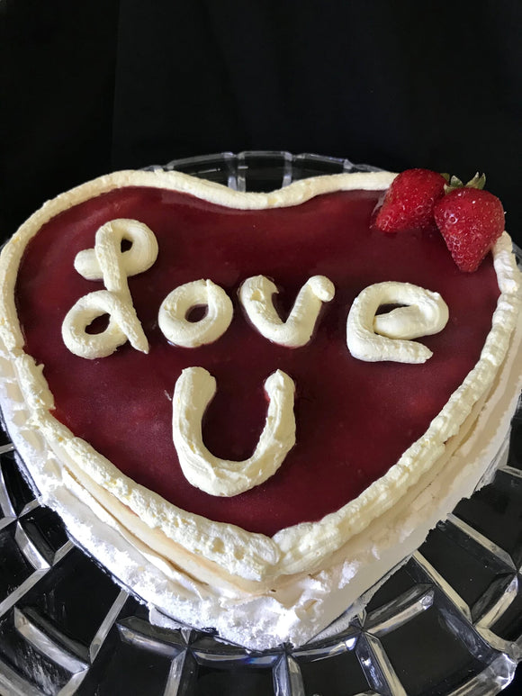 Gluten Free Crustless Heart Shaped Cheesecake