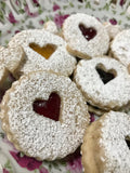 Heart Handmade Cookies with Peach, Blueberry, and Raspberry Preserves - 18