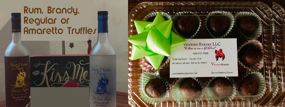 Rum, Brandy, or Amaretto Truffles - 1 Dozen