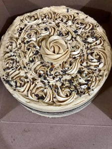 Swiss chocolate cake/peanut better satin buttercream
