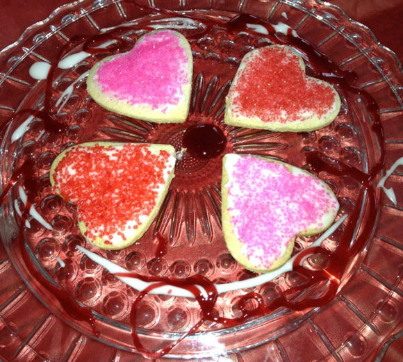 Valentine's Day Heart-shaped Shortbread Cookies - Ventito Bakery