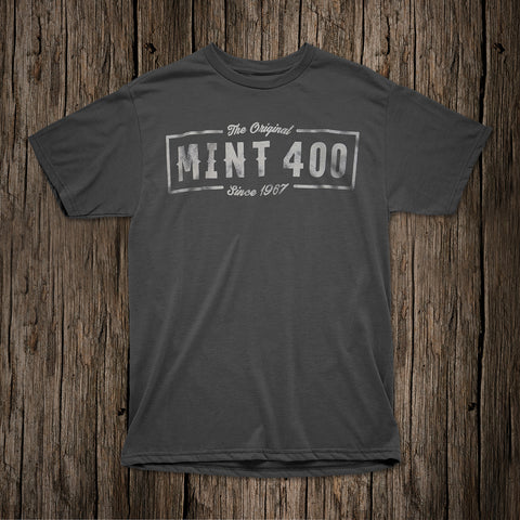 "2017 Mint 400 ""Original"" Logo T-shirt - (Grey)"