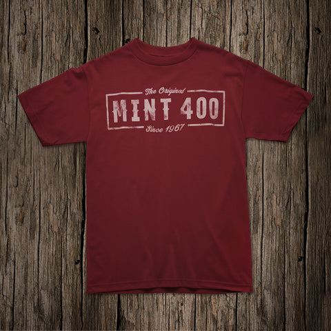 "2017 Mint 400 ""Original"" Logo T-shirt - (Red)"