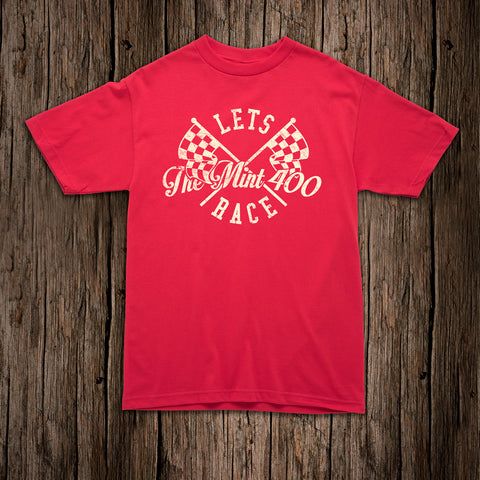 Mint 400 Let's Race Youth T-shirt - Red