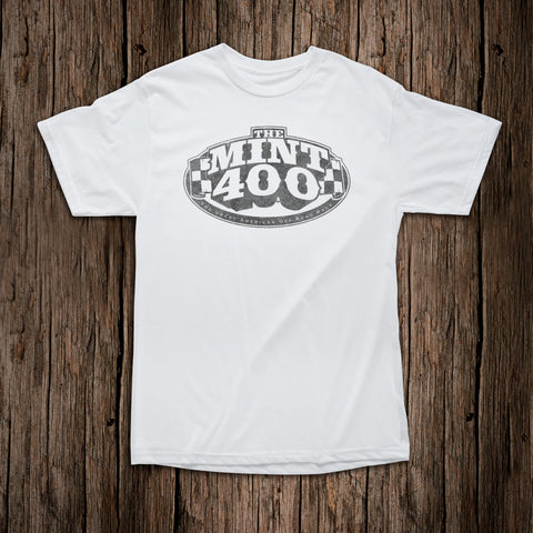 "Mint 400 ""OG"" Logo T-Shirt - White *(REVERSE PRINT) Issue"