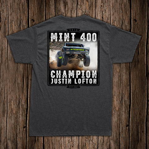 2015 Justin Lofton Mint 400 Victory Shirt
