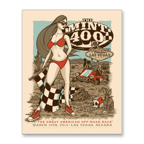 2014 Limited Edition Mint 400 Poster (Signed by artist, numbered)