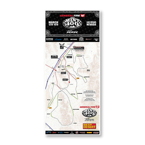 2014 Mint 400 Souvenir Race Map