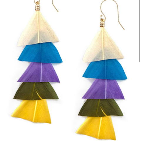 Light as a Feather Earrings:Multi