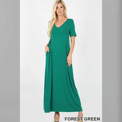 Flow with it Maxi: Forest Green