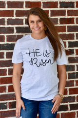 He is Risen Graphic Tee: Ash Gray