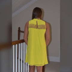 Twisted Heart Dress: Yellow